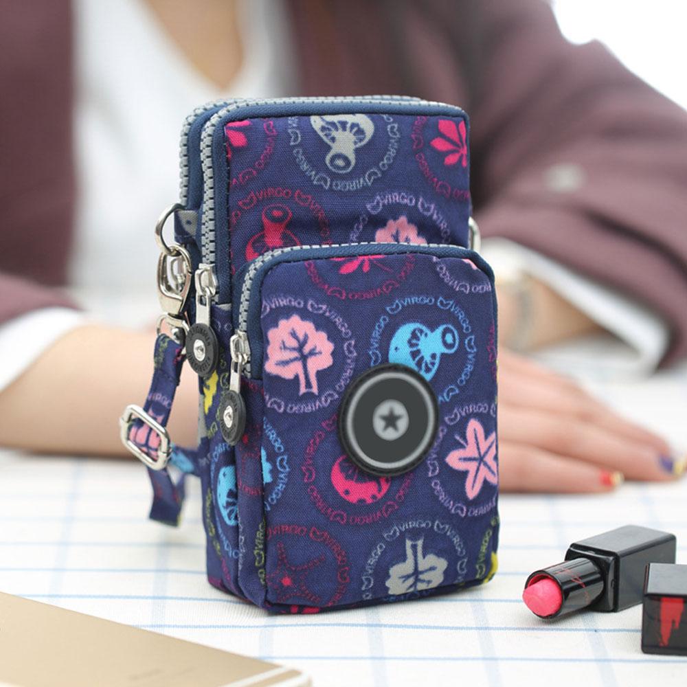 FC0D E84F 10 Colors Shoulder Bag Wristlet Nylon Coin Bag Hanging Neck Handbags