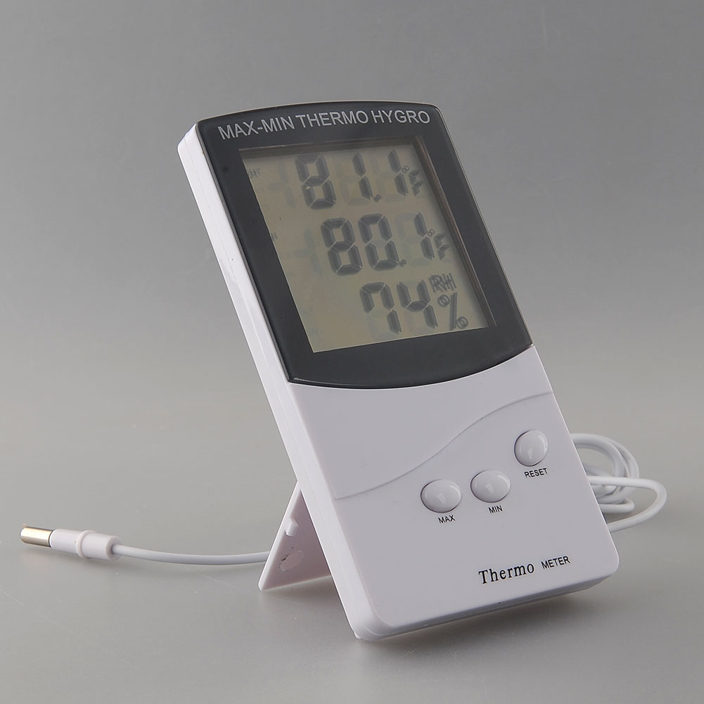 2014 lcd digital innen au en thermometer hygrometer temperatur luftfeuchtigkeit ebay. Black Bedroom Furniture Sets. Home Design Ideas