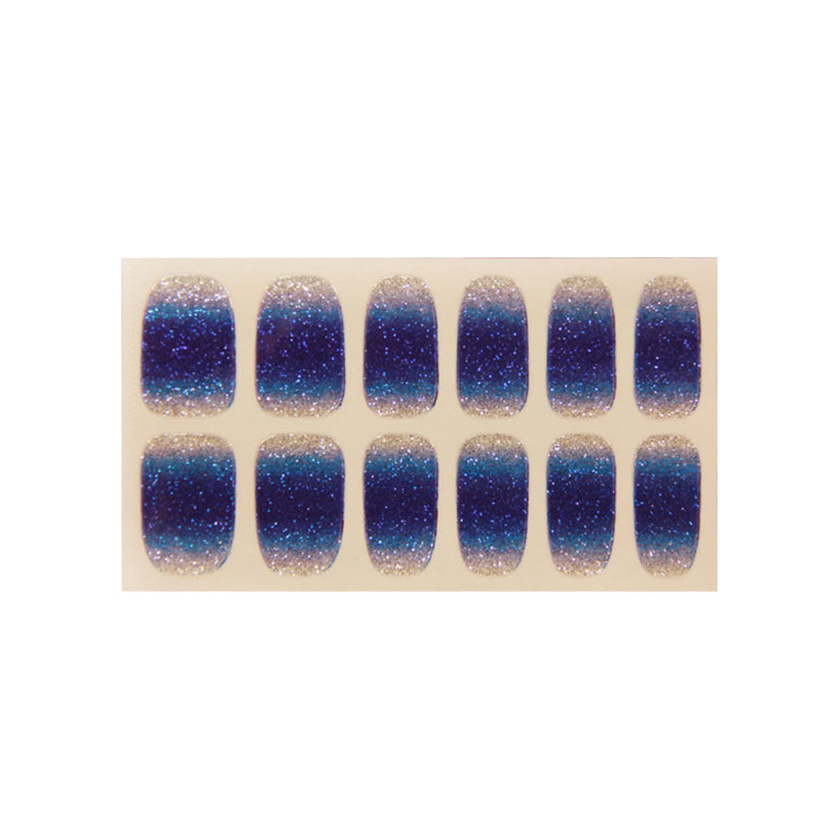 Glitter Foils Artificial Nail Stickers Decal Tips Wraps DIY Decoration Nail Art
