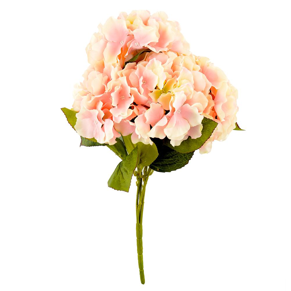 5 Flower Heads Artificial Flower Bunch Bouquet Home Party Floral Hydrangea