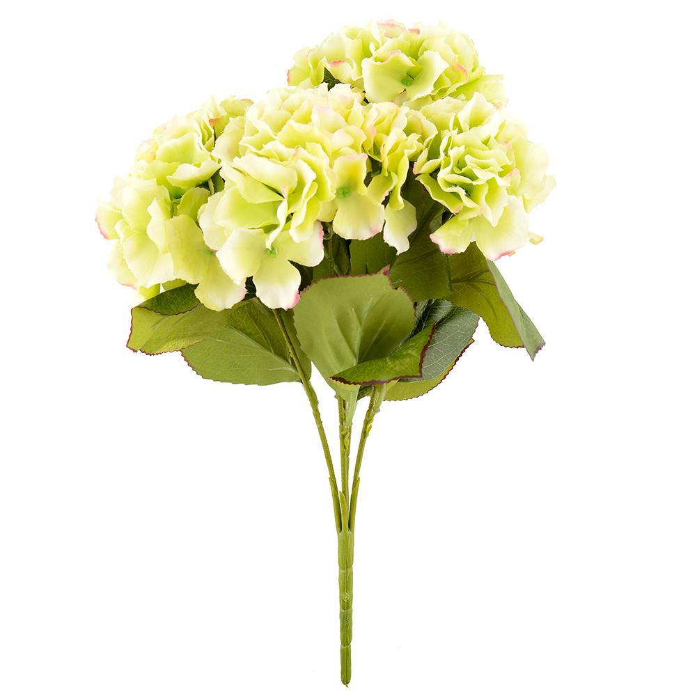 5 Flower Heads Artificial Flower Home Hotel Wedding Garden Decor Hydrangea