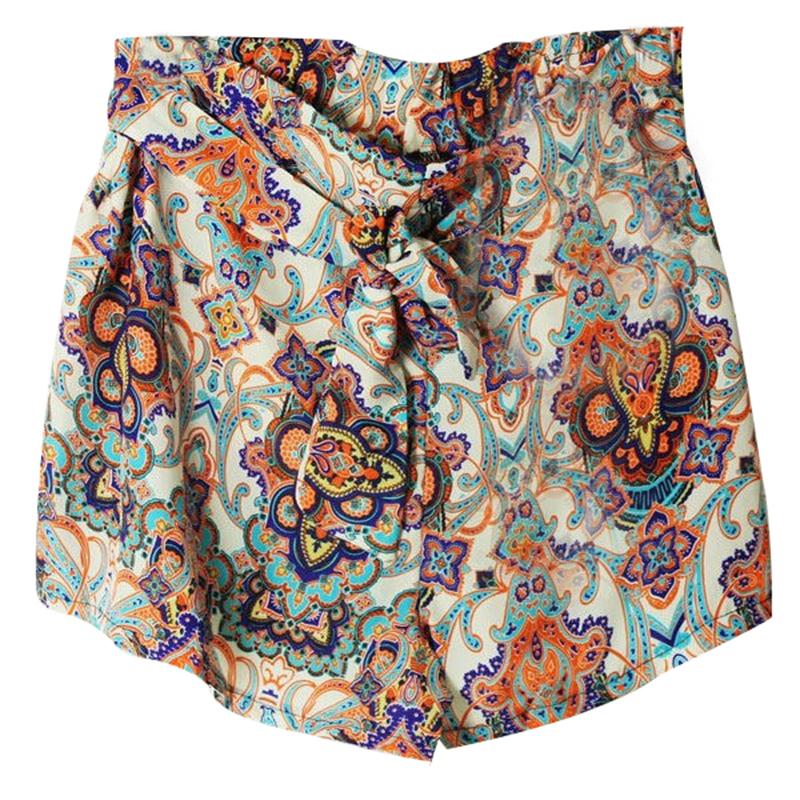 Hot Women's Lady Retro Elastic Shorts Floral High Waist Skirt Short Pants