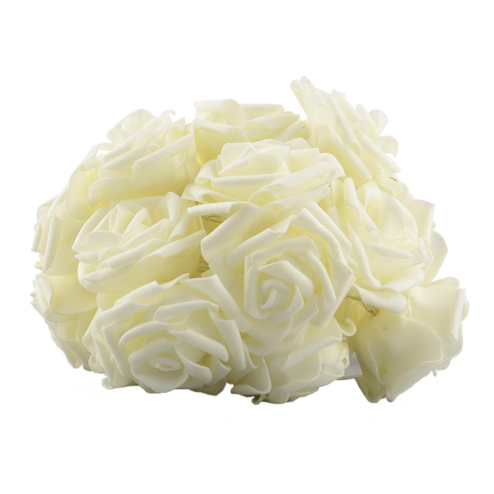 20LED Rose Flower Battery Romantic Christmas Attractive String Decor Light