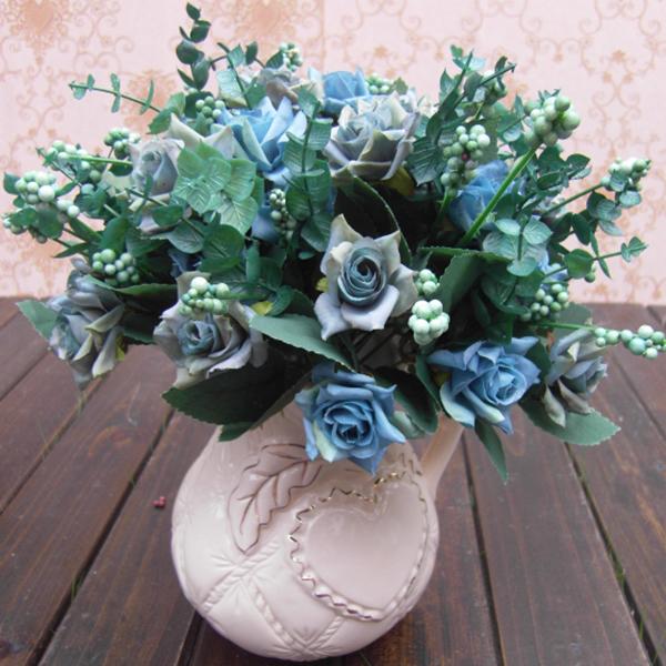 1Bunch Artificial Rose Silk Flowers Floral Garden Decor DIY Flower Arrangment