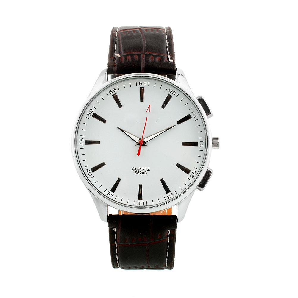Hot Luxury Vintage Mens Round Dial Quartz Analog Leather Band Wrist Watch