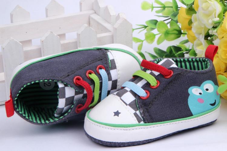 New Toddler Prewalker Canvas Antiskid Lace Up Cartoon Sneaker Trainer Shoes