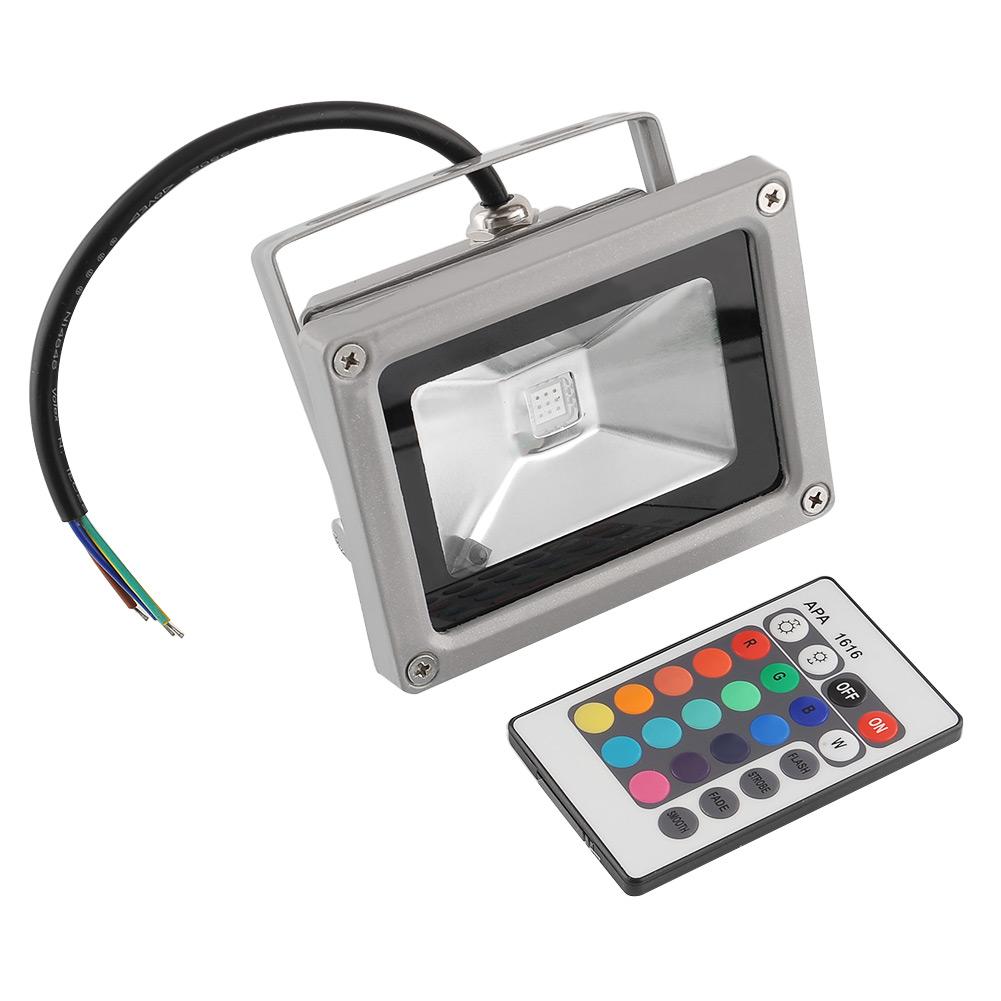 10w led rgb floodlight 16 color changing outdoor security flood lights. Black Bedroom Furniture Sets. Home Design Ideas