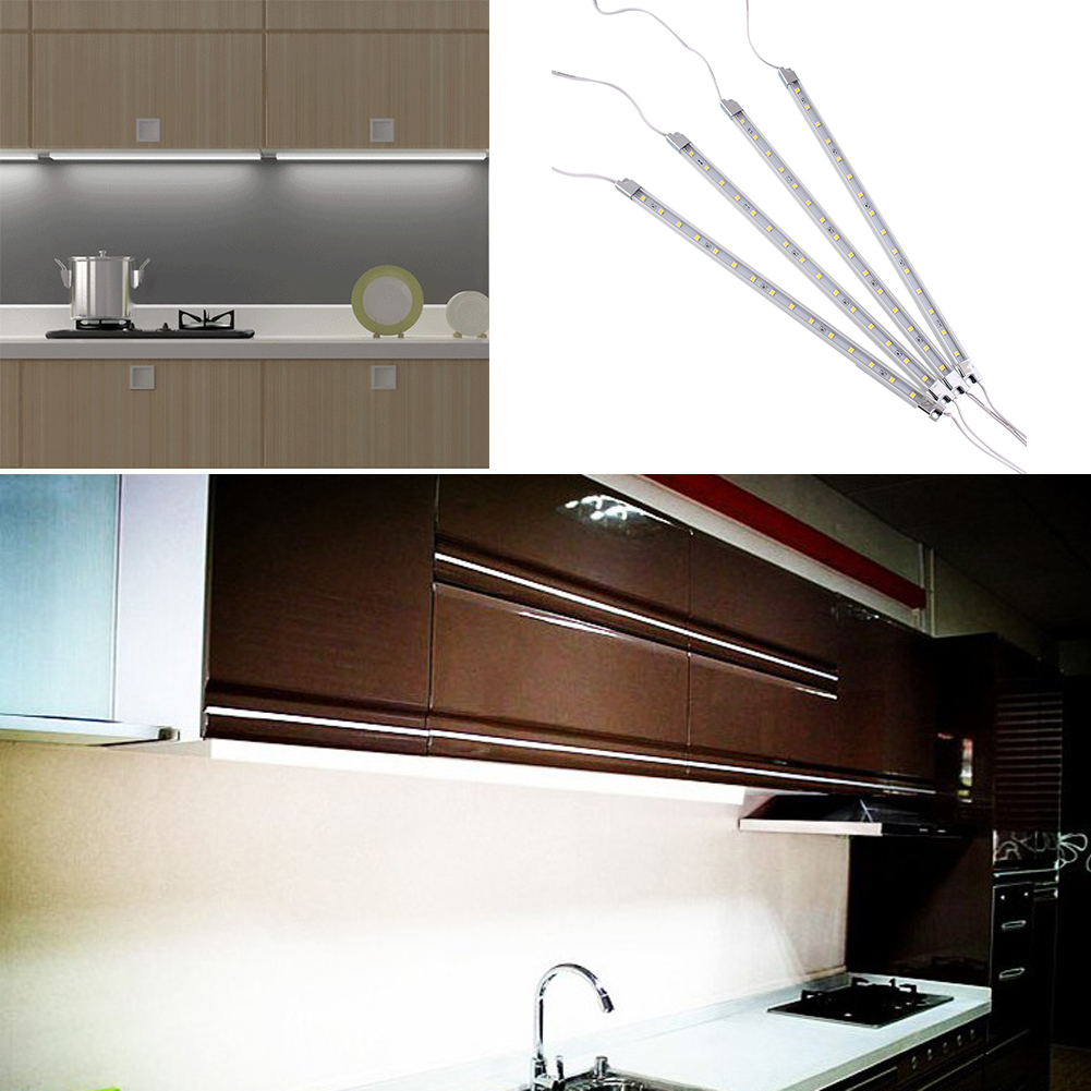 Kitchen Under Cabinet Strip Lighting: 4Pcs Kitchen Home Under Cabinet Counter 15 LED Light Bar