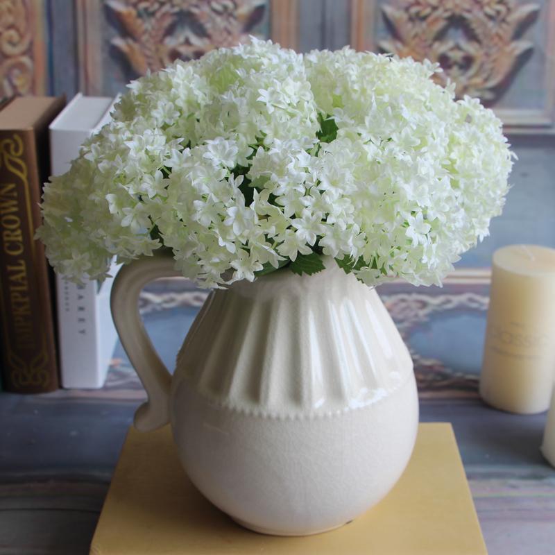 European Fake Silk Flower Rose Artificial Hydrangea Wedding Bridal Home