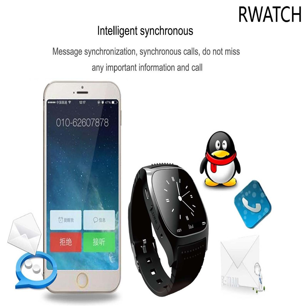 Sport Bluetooth Smart Watch M26 Sync Phone Mate For IOS Android Samsung HTC Sony