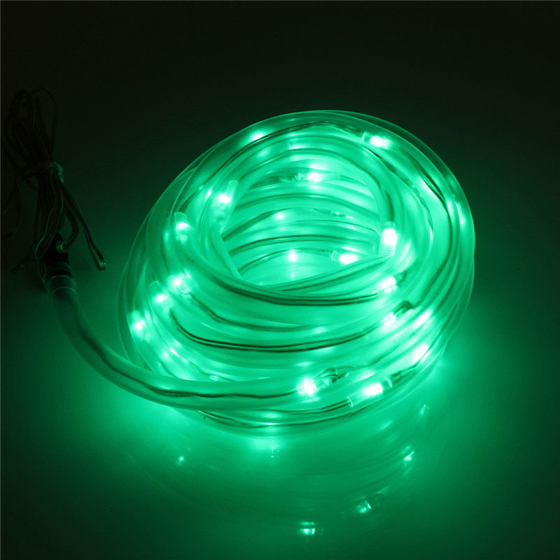 Led String Lights For Cars : 50-LED Solar Rope Flexible Tube Strip Light String Auto Control IP68 Garden Xmas eBay