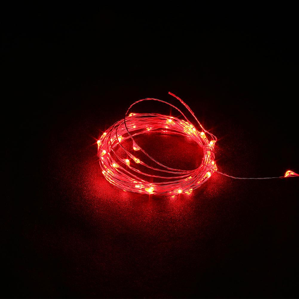 5M USB Christmas Copper Cord 50-LED String Light Wire Bedroom Wedding Decor Lamp