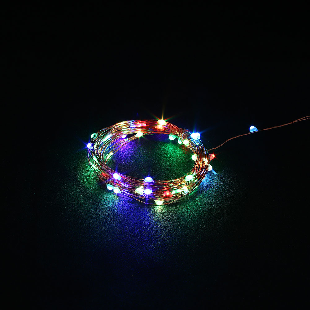 Led String Lights Usb : 5M USB Christmas Copper Cord 50-LED String Light Wire Bedroom Wedding Decor Lamp