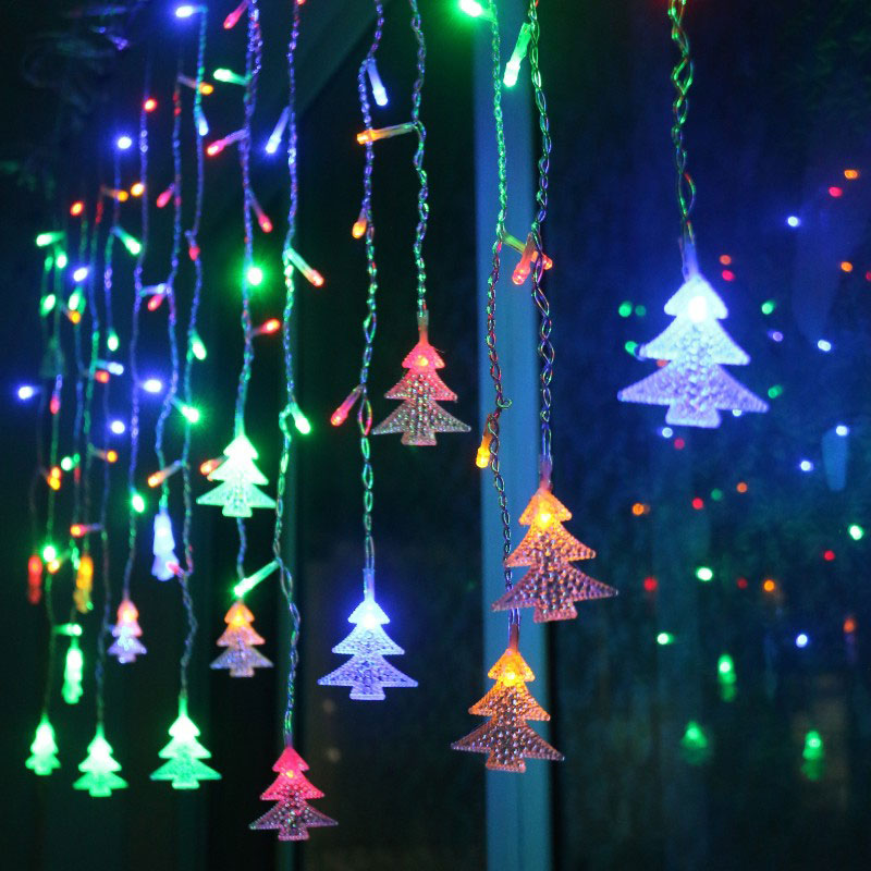 String Christmas Tree Lights Vertically : Christmas LED Snowflake Tree Hanging Curtain Fairy Light String Icicle Window EU eBay