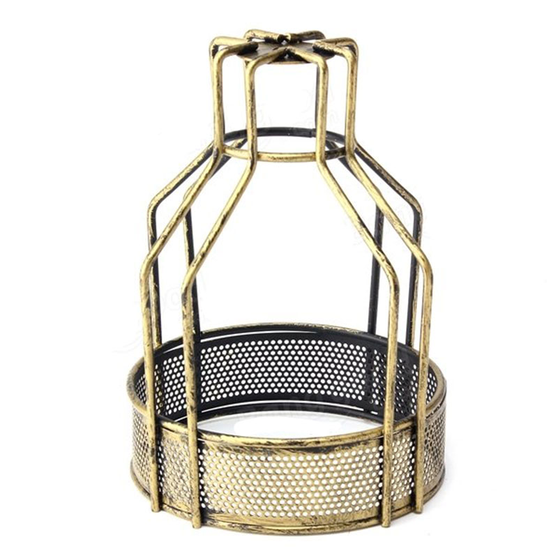 Ceiling Light Bulb Guard : Bulb cage guard iron vintage ceiling pendant net bottom