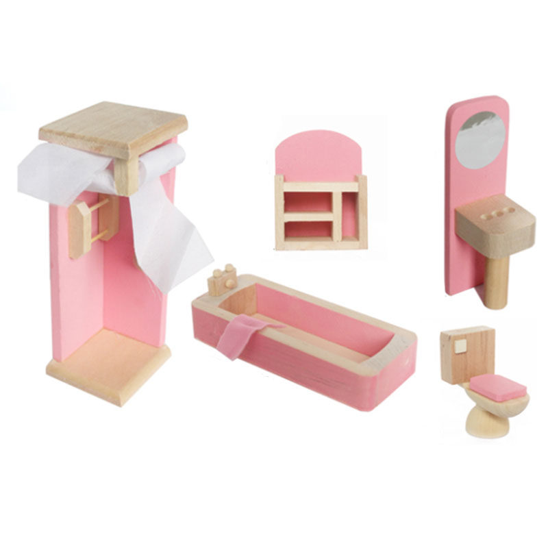 Kids Bedroom Furniture Kids Wooden Toys Online: Wooden Furniture Dolls House Miniature Bedroom Type Toys