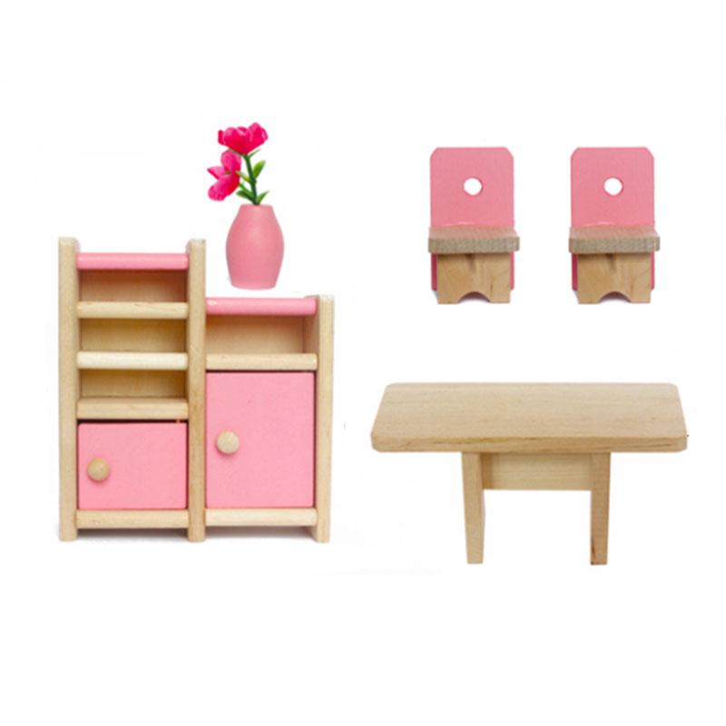 Wooden Furniture Dolls House Miniature Bedroom Type Toys Kids Children Ebay