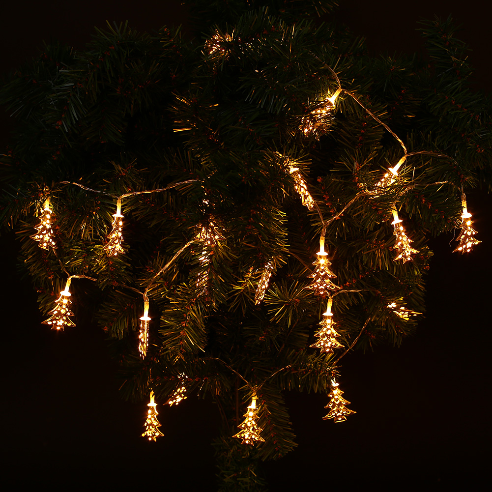 String Lights In Trees: Outdoor Xmas Christmas Tree LED Strip Flashing String