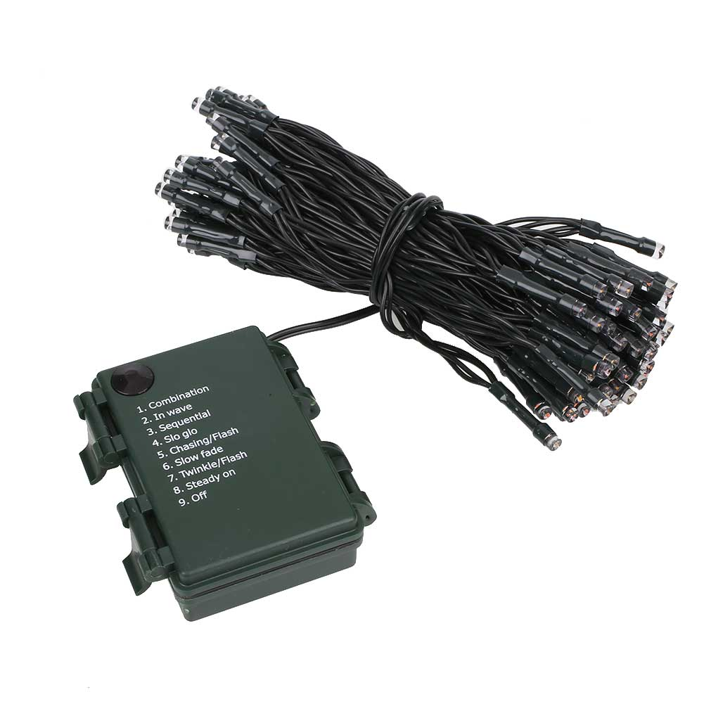 Outdoor Xmas Copper LED Strip Flashing String Lights Decor Lamp W/Battery Case eBay