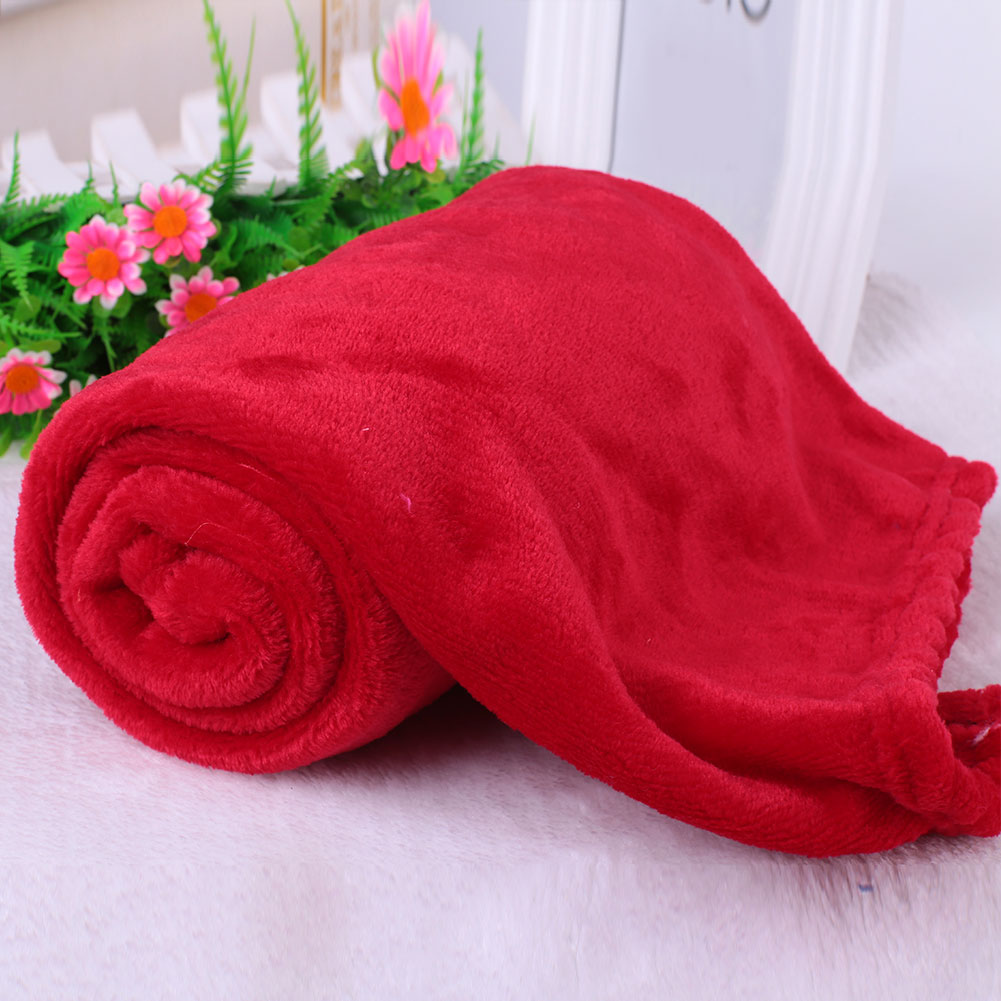 Super Soft Coral Fleece Throw Luxury Warm Comfy Home Sofa Bed Baby