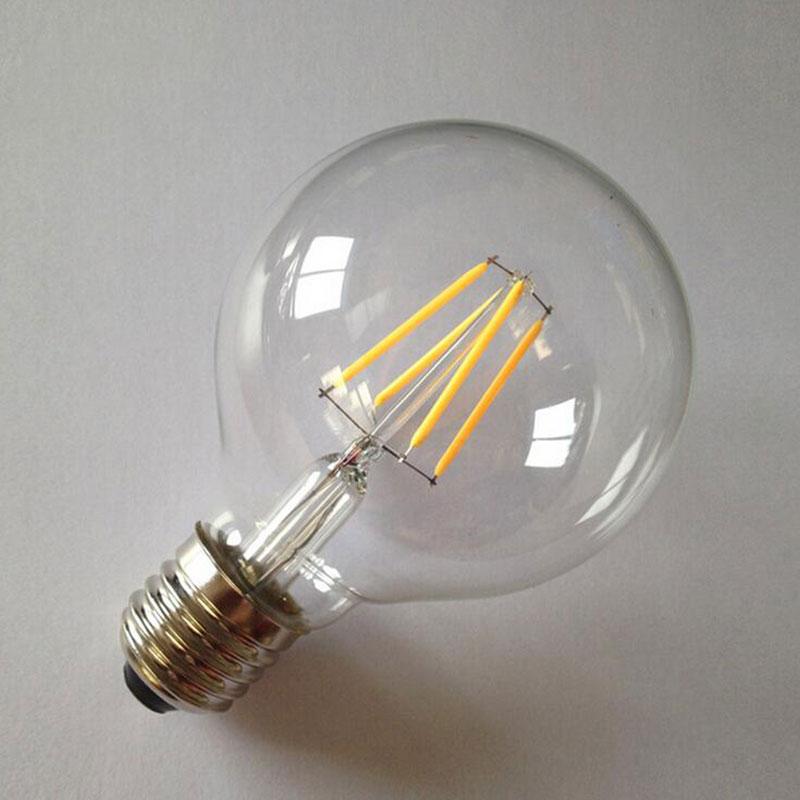 E27 G80 4w Led Bulb Vintage Cob Candle Light Lamp Dimmable Bright 110 220v Ebay