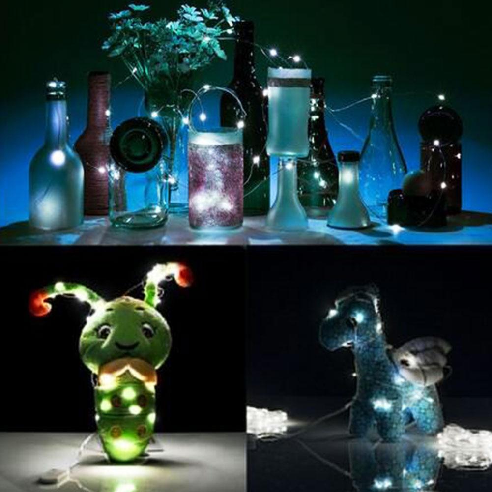 New 2m 20 Led Sliver Wire Mini Fairy Strings Light Home Decor Colorful Bright Ebay