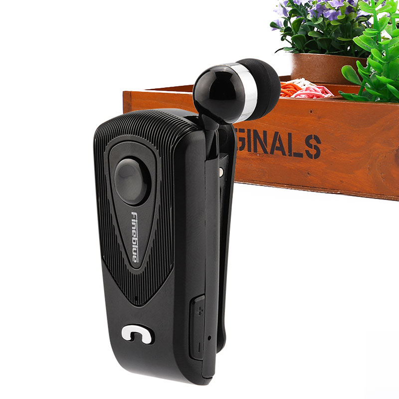 Retractable Fineblue F930 Stereo Music Wireless Bluetooth Headset Earphone