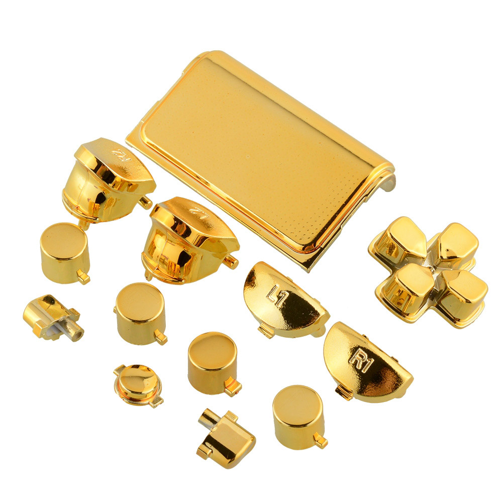 Fashion buttons mod chrome gold for sony playstation 4 ps4 for Housse manette ps4
