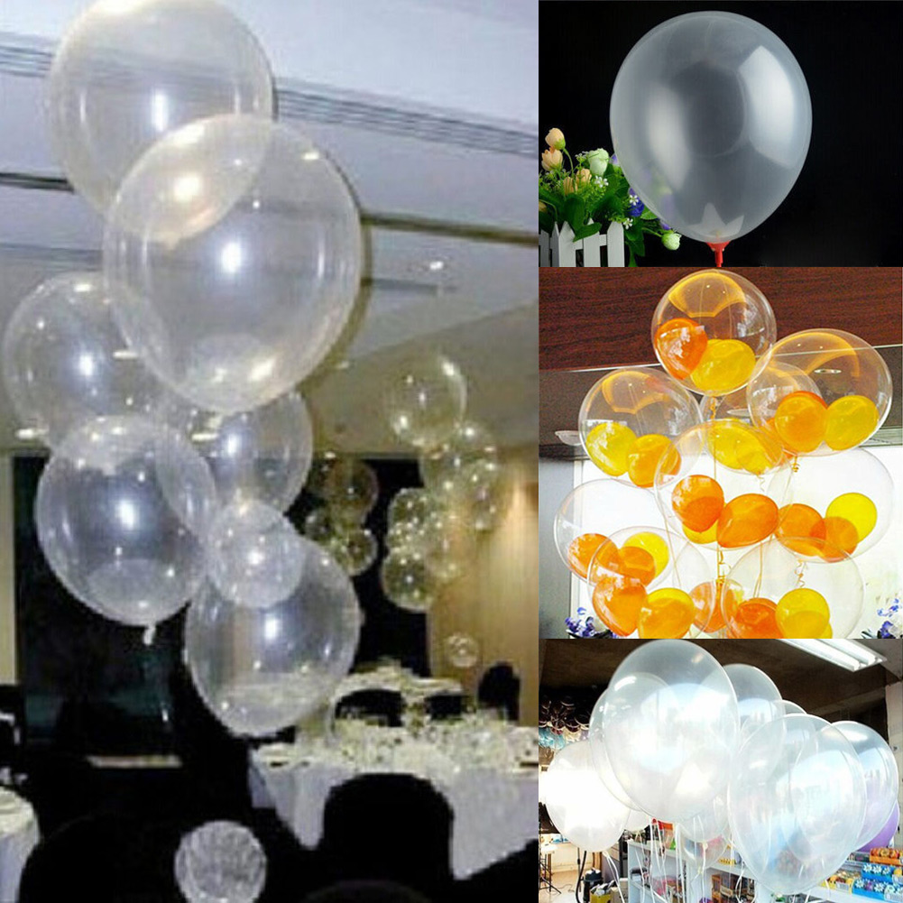 10pcs transparent latex balloons home party decor 10 for Decor international wholesale