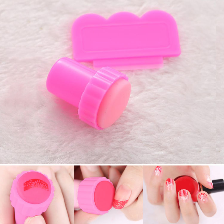 2pcs Nail Art DIY Stamping Stamper Kit Scraper Salon Fashion Lady Hot