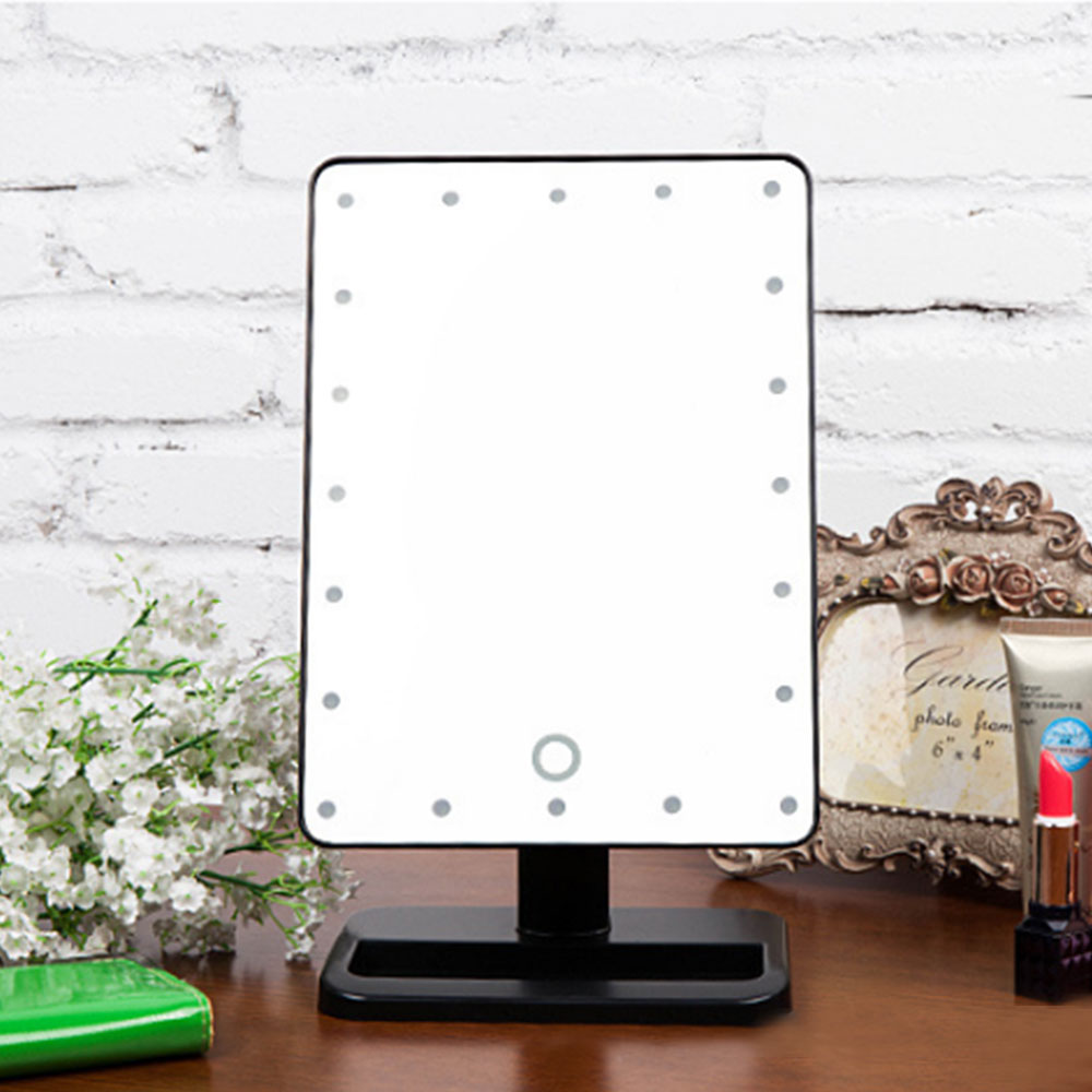 make up vanity illuminated desktop makeup stand mirror with 21 led light lazada malaysia. Black Bedroom Furniture Sets. Home Design Ideas
