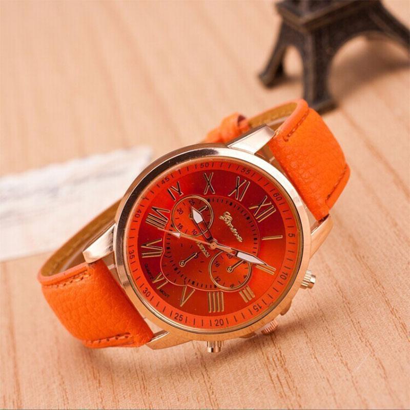 Geneva Roman Numerals Watch Wristwatch Quartz Watches For