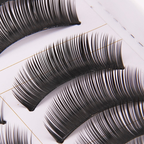 10-Pairs-Makeup-Handmade-Natural-Thick-Long-Black-False-Eyelash-Eye-Lashes