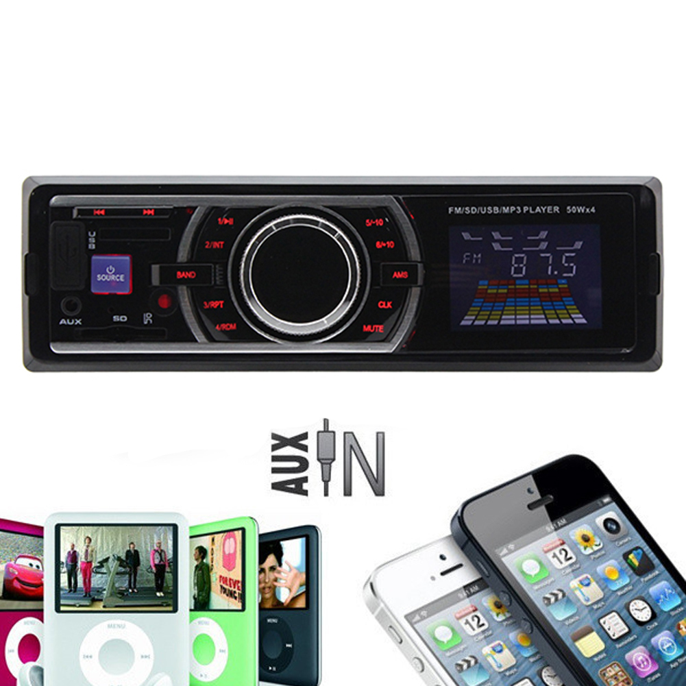 DIN-USB-SD-AUTORADIO-CAR-HIFI-MP3-PLAYER-RDS-RADIO-TUNER-AUX-WMA-SPIELER-4x50W
