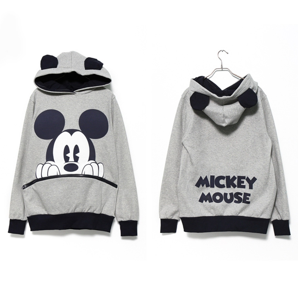 Cute Girls Womens Mickey Minnie Mouse Ear Emo Sweater ...