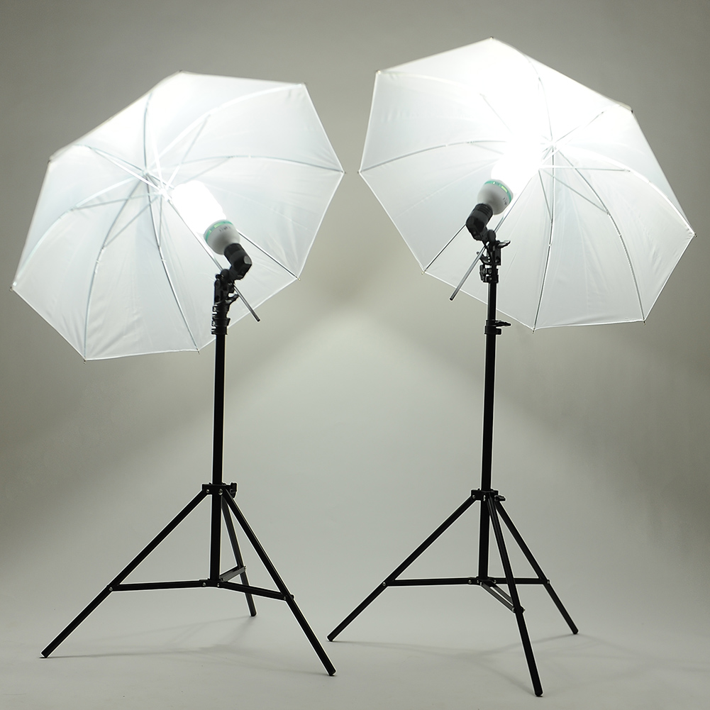 kit photographie lampe 45w ampoule parapluie lumi re de studio stand tr pied ebay. Black Bedroom Furniture Sets. Home Design Ideas