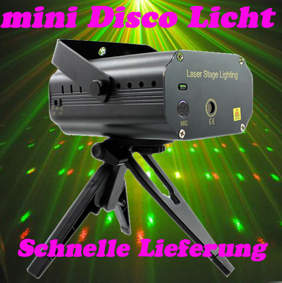 PRO-MINI-DJ-Party-LED-Laser-Disco-Projector-Buehnenbeleuchtung-Licht-Club-schwarz