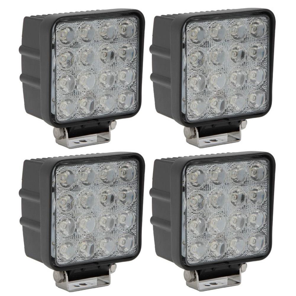super 4 x 48w lampe led tuning eclairage phare de feux travail pour auto voiture ebay. Black Bedroom Furniture Sets. Home Design Ideas