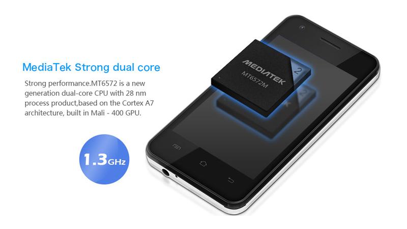 CUBOT GT72 4 Smartphone Dual SIM Android Schwarz Touchscreen Handy ohne Vertrag