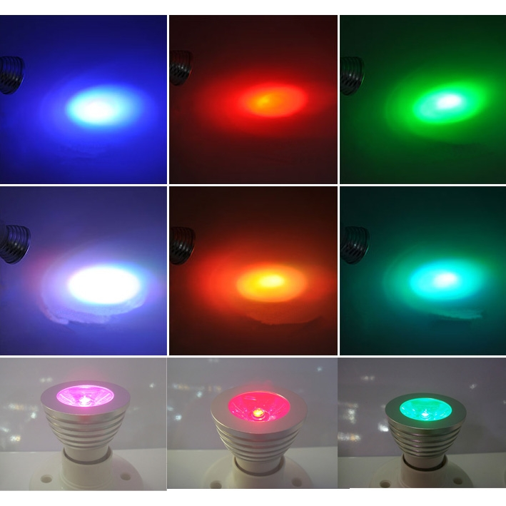 profi 4er 3w rgb led spot e27 einbaustrahle 16 farben licht lampe fernbedienung ebay. Black Bedroom Furniture Sets. Home Design Ideas