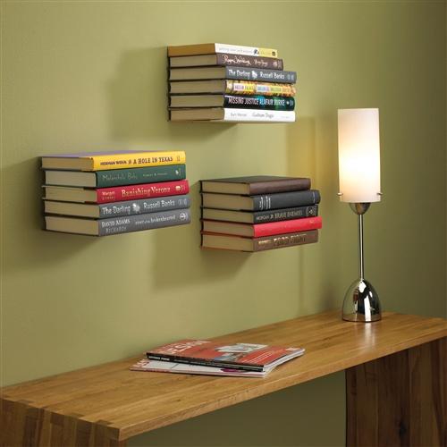 hab gut schwebendes unsichtbares regal f r b cher. Black Bedroom Furniture Sets. Home Design Ideas