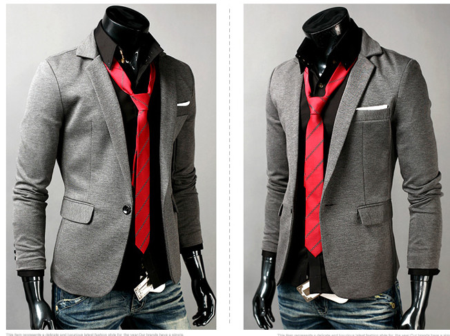 herren anzug business casual blazer mantel jacke sakko anzug jackett slim s m l ebay. Black Bedroom Furniture Sets. Home Design Ideas
