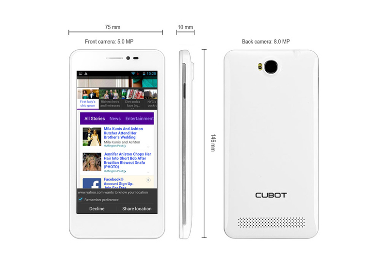 Cubot P6 Smartphone ohne Vertrag Android4,2 Dual Core Weiß Dual SIM Dual Standby