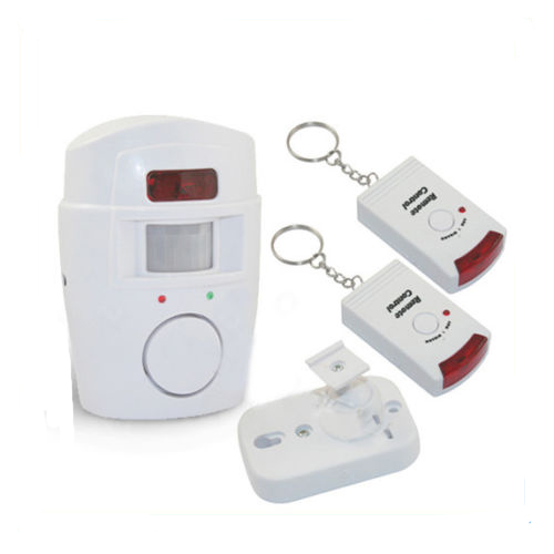 bewegungsmelder alarmanlage infrarot sensor alarm haus mit 2 fernbedienungen ebay. Black Bedroom Furniture Sets. Home Design Ideas