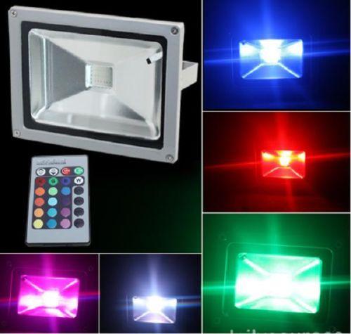 30w rgb projecteur led ip65 spot ext rieur multicolore for Eclairage exterieur avec commande a distance