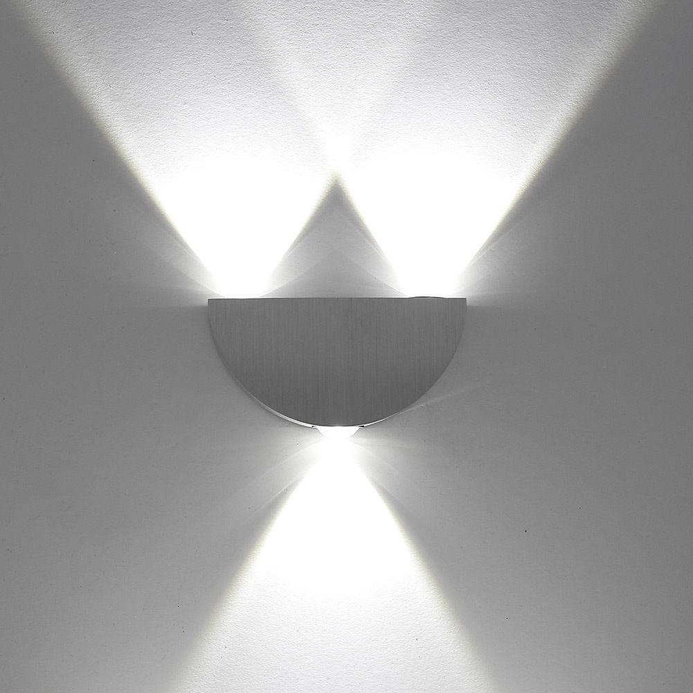 3w applique led murale blanc froid design demi cercle. Black Bedroom Furniture Sets. Home Design Ideas