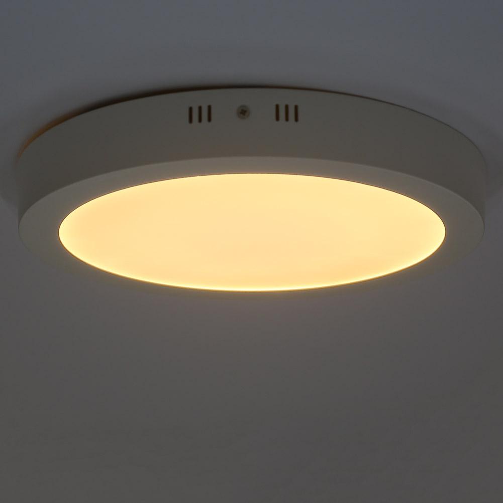 W led deckenlampe deckenleuchte rund aufputz panel flach
