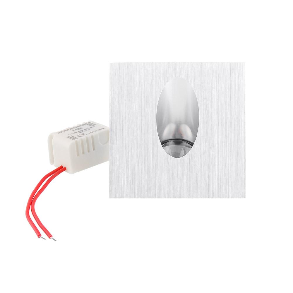 2x 3w kaltwei led treppenleuchte stufenbeleuchtung lampe. Black Bedroom Furniture Sets. Home Design Ideas