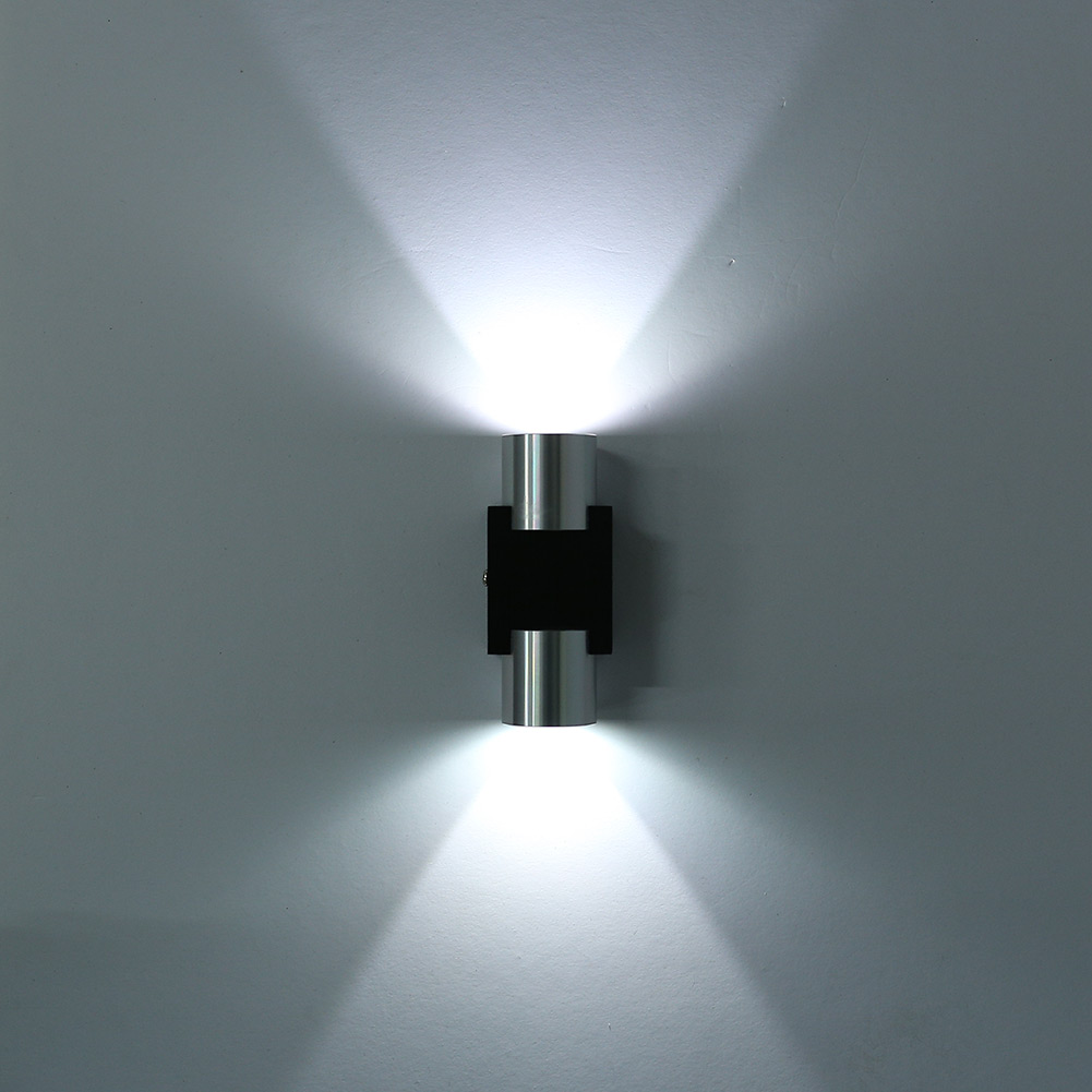 led indoor wall light 2w up down sconce lighting lamp