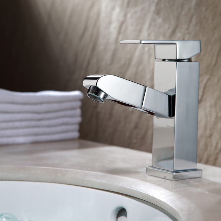 Grifo de lavabo de la cocina cromo acero inoxidable nuevo - Grifo cocina extensible ...